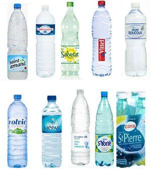 différentes marques d'eau