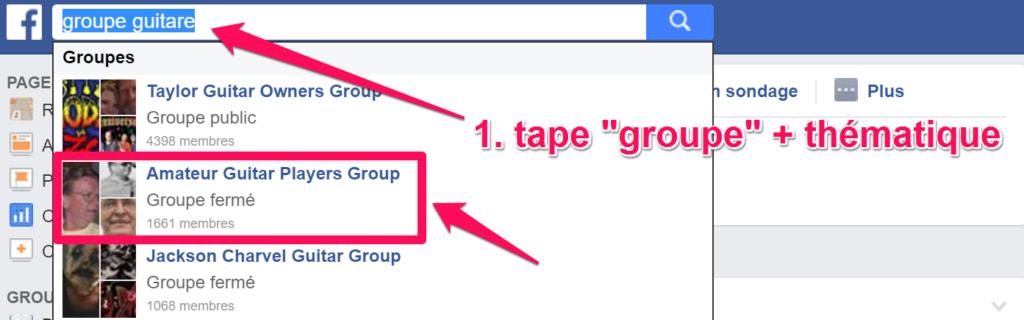trouver un groupe facebook