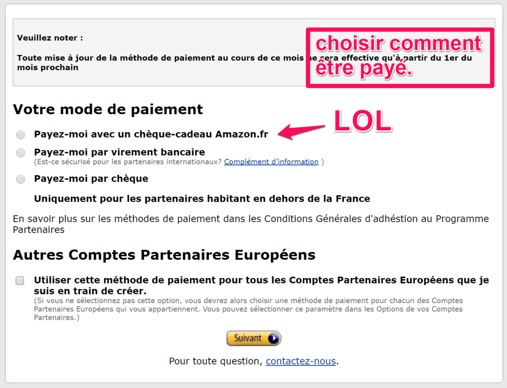 Moyen De Paiement Amazon Affiliation