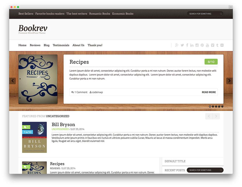theme wordpress bookrev