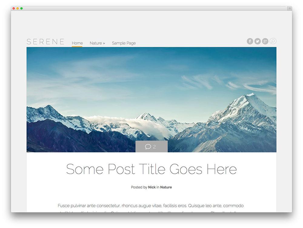 theme-blog-wordpress-serene