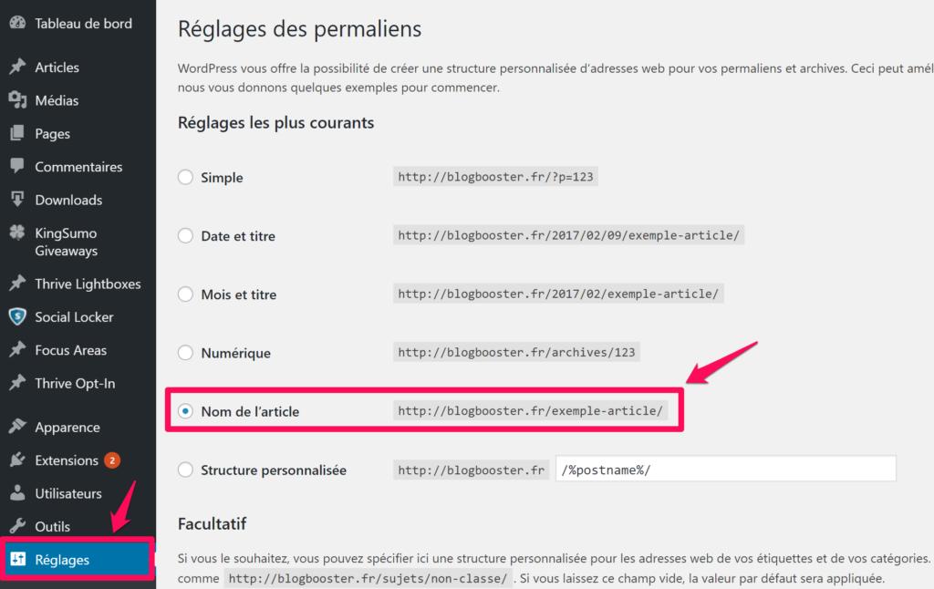 tuto-wordpress-reglage-url