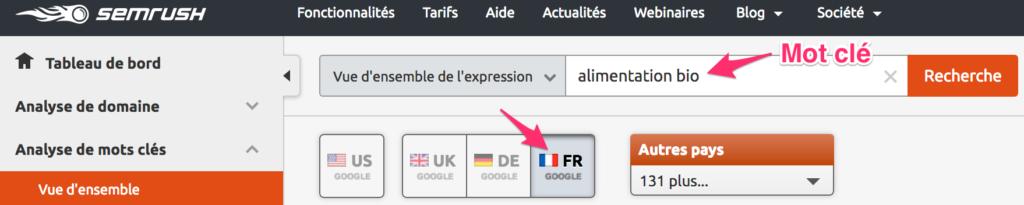 recherche-mots-cles-google-semrush